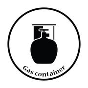 Camping gas container icon - stock illustration