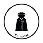 Raincoat icon Stock Illustration