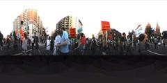 Black Lives Matter protest in 360 VR Stock Footage
