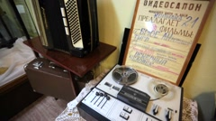 Reel recorder and russian accordion. Arkistovideo