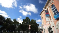 Residence of Ded Moroz in russian town. - stock footage