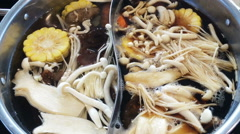 Hot boiling, shabu shabu Stock Footage