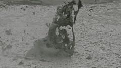 Hot mudpools in Rotorua Stock Footage