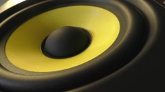 Studio Monitor Speaker Close Up Stock Footage