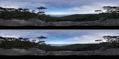 360VR stereoscopic 360° Illawarra Escarpment Australian virtual reality - stock footage
