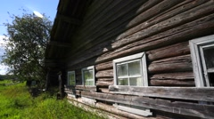 Old wooden abandoned house Stock Footage