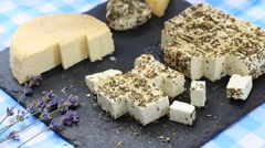 Homemade goat cheese Stock Footage