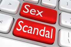 Sex Scandal concept Stock Illustration