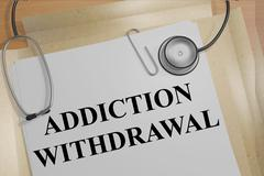 Addiction Withdrawal medical concept Stock Illustration