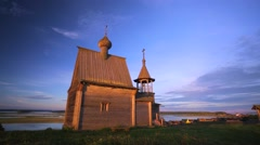 Exterior of the Nikolskaya Chapel on sunset. Stock Footage