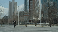 Business Person walking in Downtown - stock footage