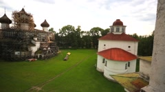 View from the bell tower on Sobornaya square. Stock Footage