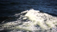 Amazing dark waves of stormy White Sea in Russia, white splashes. Stock Footage