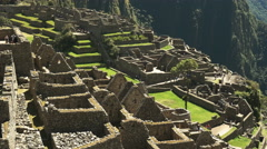 Machu picchu ruins close up Stock Footage