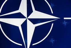Emblem of the North Atlantic Treaty Organization - stock photo