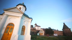 Konstantin Chapel near the Russian Orthodox Solovetsky Monastery. Stock Footage