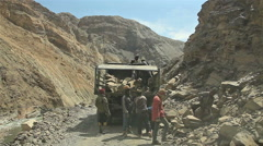 Spiti Nako Road Repair Stock Footage