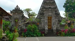 Ornate Entrance to a Hindu Temple in Ubud, Bali, Indonesia. UltraHD video Stock Footage