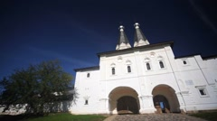 View of The Ferapontov convent in the Vologda region of Russia. Stock Footage