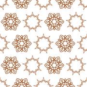Seamless of nine angle stars and six petal flowers Stock Illustration