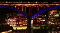 Fehghuang Bridge Night Stock Footage