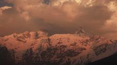 Kailash Sunset India 4k Stock Footage