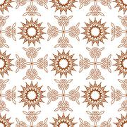 Seamless of fifteen angle stars and weaving crosses - stock illustration
