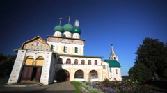 View of ancient Holy Cross (Krestovozdvizhensky) Cathedral. Stock Footage