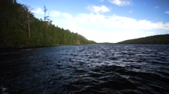 Waters of the White sea in the Kandalaksha Bay, near the North Polar Circle. Stock Footage