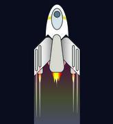 Cartoon shuttle Stock Illustration
