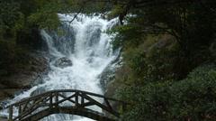 Pedestrian Bridge over Datanla Falls near Da lat, Vietnam, with Sound Stock Footage