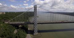 George Washington Bridge Aerial (2016) Stock Footage