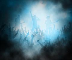 Rock concert - stock illustration