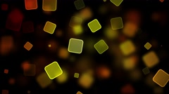Various Sized Multicolor Squares On Black Background. Seamless loop. Stock Footage