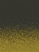 bubble gradient pattern in green brown and yellow - stock illustration