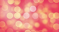 Yellow Circles On Red Background. Seamless loop. Stock Footage