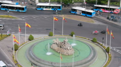 Cybeles Fountain in Madrid, Spain Stock Footage