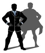 Super Hero Business Man Piirros