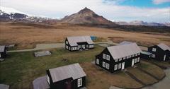 Aerial Mountain View in Seyðisfjörður Iceland Stock Footage