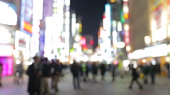 Blur city at Tokyo city - stock footage