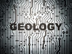 Studying concept: circuit board with Geology Stock Illustration