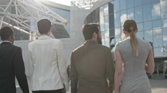 Going to the Office Building - stock footage