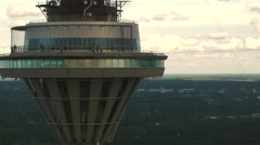 Aerial Shot of TV Broadcasting Tower in Tallinn. Stock Footage