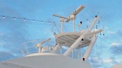 Rotating Civil Radar naval Stock Footage