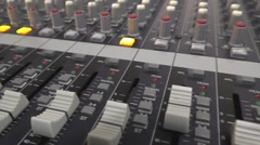 Mixing Desk Camera Pan Stock Footage