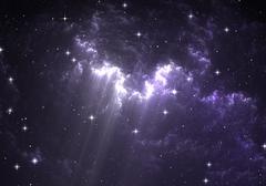 Giant glowing nebula Stock Illustration
