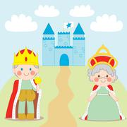 King and Queen - stock illustration