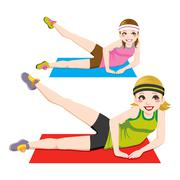 Aerobic Exercise - stock illustration
