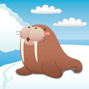 Happy Walrus Stock Illustration