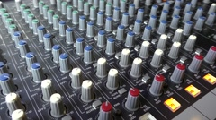 Studio Mixer Adjusting Controls Stock Footage